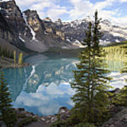 Moraine Lake In The Valley Of The Ten Art Print