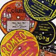 More Old Record Labels  Art Print