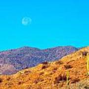 Morning Moon In Baja Art Print
