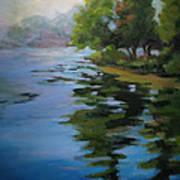 Morning Over Fowler Lake Art Print