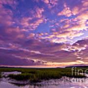 Morning Over The Marsh Art Print