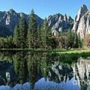 Morning Reflection At Yosemite Art Print