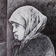 Morocan Girl Art Print