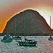 Morro Bay Rock Art Print
