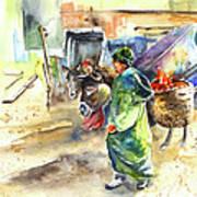 Morrocan Market 04 Art Print by Miki De Goodaboom