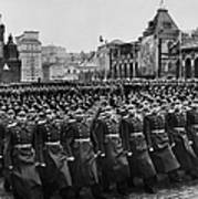 Moscow: Troop Review, 1957 Art Print