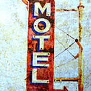 Motel 77 Sign Art Print