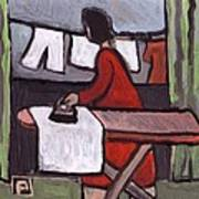 Mother  Ironing Art Print