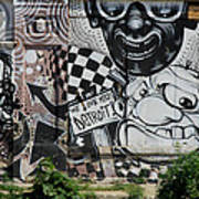 Motor City Graffiti Art Art Print