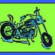 Motorbike 1c Art Print