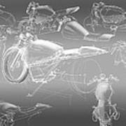 Motorcycle Concept Sketches Art Print
