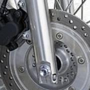 Motorcycle Disc Brake Art Print by Tony Craddock