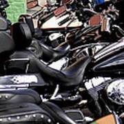 Motorcycles - Harleys And Hondas Art Print