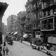 Mott Street In New York Citys Chinatown Art Print by Everett