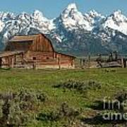 Moulton Barn - Grand Tetons Art Print