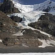 Mount Andromeda And Athabasca Glacier Art Print