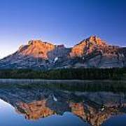 Mount Kidd Reflected In Wedge Pond Art Print