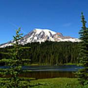 Mount Rainier And Reflection Lake Art Print