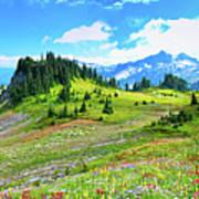 Mount Rainier Summer Colors Art Print by Feng Wei Photography