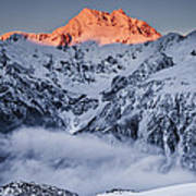 Mount Rolleston In The Dawn Light Art Print by Colin Monteath