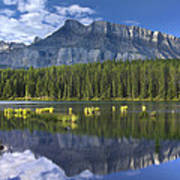 Mount Rundle And Boreal Forest  Art Print