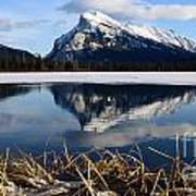 Mount Rundle In Winter Art Print