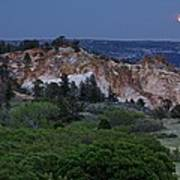 Mount Saint Francis And The Super Moon Art Print