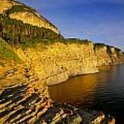 Mount St Alban Cliffs At Sunset Art Print