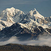 Mount Tasman And Mount Cook Southern Art Print