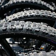 Mountain Bike Tires Art Print