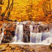 Mountain Creek Falls Art Print