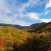 Mountain Foliage And Blue Skies Art Print