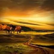 Mountain Horses Art Print