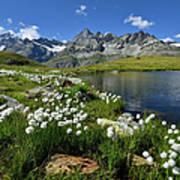 Mountain Lake, Near Schwarzee, Zermatt Art Print