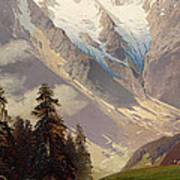 Mountain Landscape With The Grossglockner Art Print