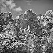 Mountain Peaks Art Print by Lisa  Spencer