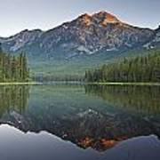 Mountain Reflection, Pyramid Mountain Art Print
