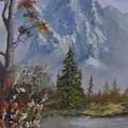 Mountain Scene Art Print