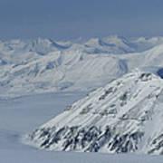 Mountains And Glaciers Near Ny Alesund Art Print