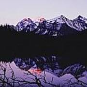 Mountains And Lake At Icefields Parkway Art Print