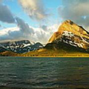 Mountains At Many Glacier Art Print