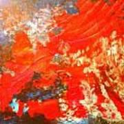 Mountains Fall Into The Raging Seas Art Print