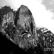 Mountains Of Yosemite . 7d6167 . Black And White Art Print by Wingsdomain Art and Photography