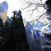 Mountains Of Yosemite . 7d6213 Art Print by Wingsdomain Art and Photography