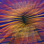 Moving Abstract Lights Art Print