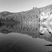 Mowich Lake Mono Print Art Print