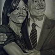 Mr. And Mrs. Obama Art Print by Handy