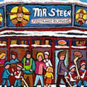 Mr Steer Restaurant Montreal Art Print