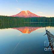 Mt. Adams Alpenglow Art Print