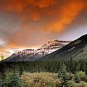 Mt. Amery And Dramatic Clouds, Banff Art Print